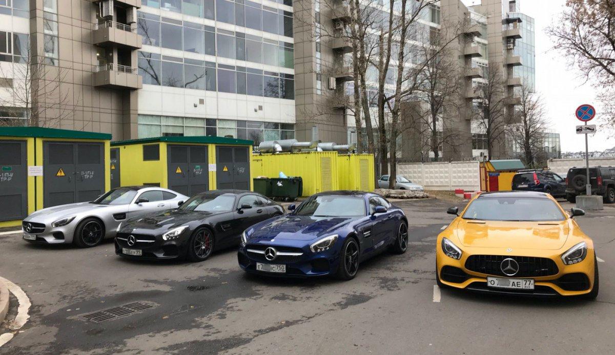 Открытие зимнего сезона AMG GT