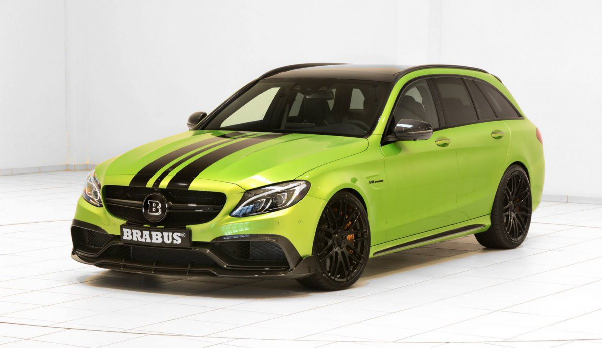 С63s drift wagon BRABUS 650 green hell