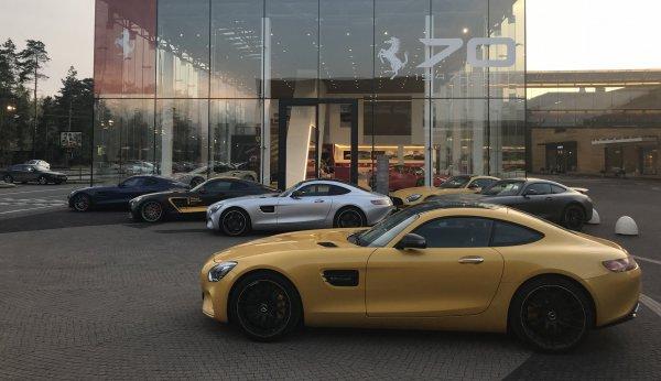 5 мая встреча AMG GT, SLR, SLS, E63 и другие AMG